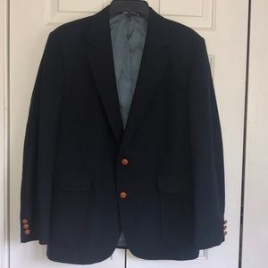 EUC Haggar Imperial navy blue wool sport coat